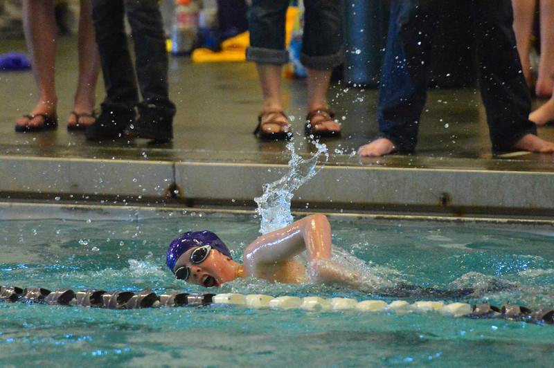 Boys swam hard on Saturday. The Estes Park Middle School team finished fifth in the league.