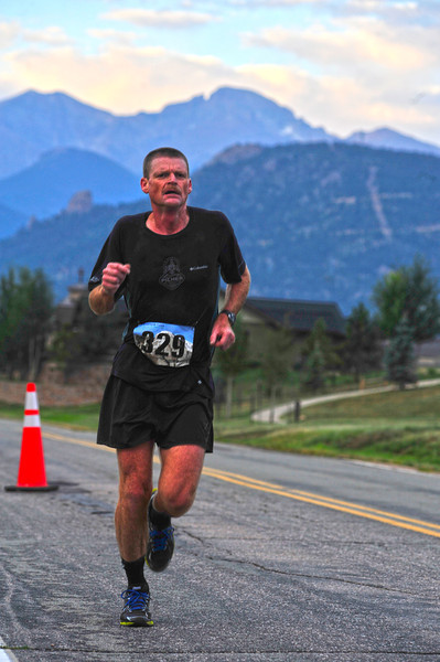 Ron Thomasson runs away with the Rocky Mountain Half Marathon on Saturday. Thomasson finished almost nine minutes ahead of the second finisher in this first edition of the race