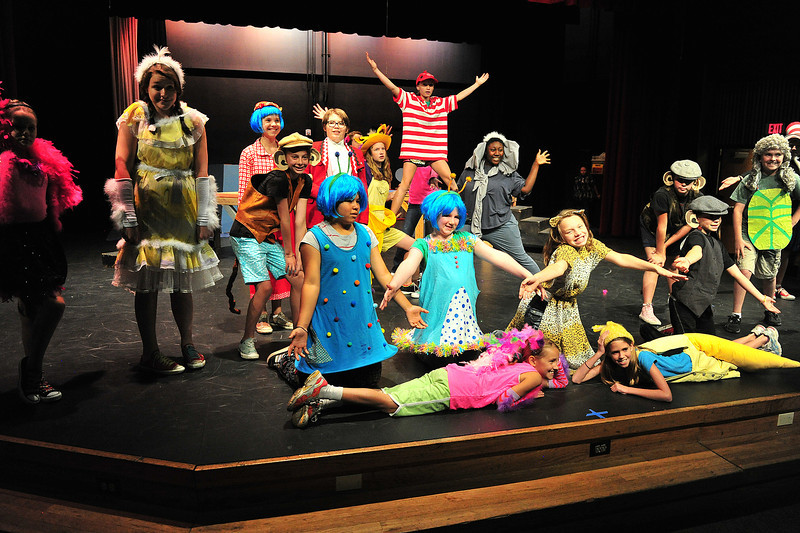 Mos of the cast of Seussical, Jr. during Monday's rehearsal.