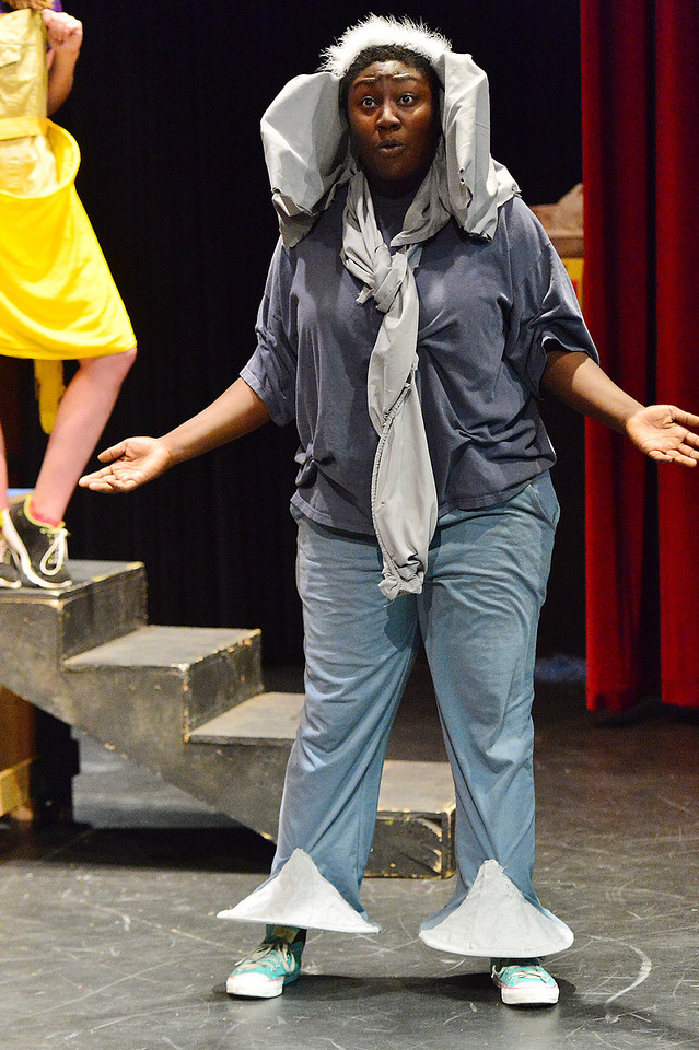 Horton the Elephant, played by Ayanna Smith, sings of the thing she's heard at rehearsal on Monday. Horton is one of many famous Seuss characters in Seussical Jr, running Saturday, August 3 and Saturday, August 4, at the Estes Park High School Auditorium.