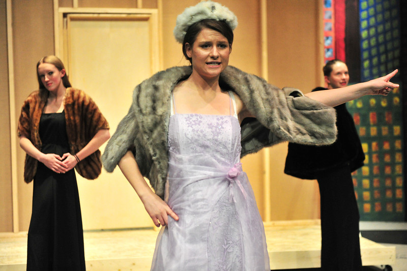 "Adelaide performs ""Take Back the Mink"" at the Hot Box in the Estes Park High School production of Guys and Dolls. The two-night run starts on Friday, November 22."