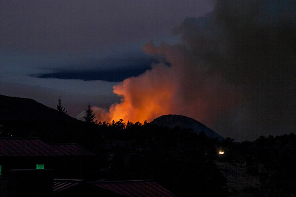 A view of the Fern Lake fire from Carriage Hills around 3-4am Saturday morning when the wind gusts were fanning the flames.