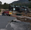 A fire truck at the Moraine Park Visitor Center in Rocky Mountain National Park Saturday mornig, Dec. 1, following a major expansion of the Fern Lake Fire.
