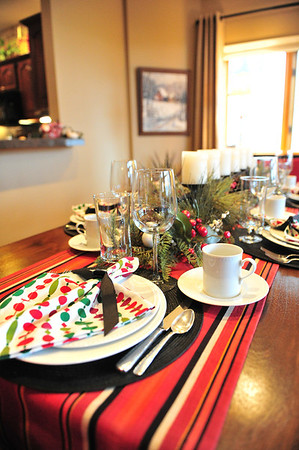 The table is set for the holiday's at Jan and Gary Trunnell's.