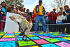 Scott Thompson watches as a duck places its marker in the Duck Squat on Saturday. While the Duck Race was the main event, other activities filled the Riverside Plaza to keep crowds entertained.
