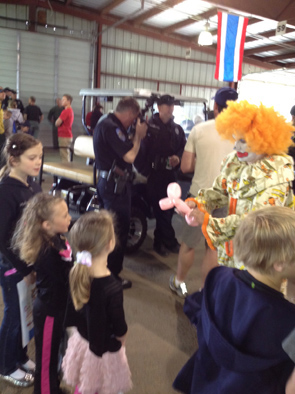 No clowning about it, the May 18 safety fair at the Fairgrounds at Stanely Park was a popular attraction.
