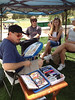 Artists were on hand July 4 at the Old Glory Carnival sponsored by the Stanley Hotel.