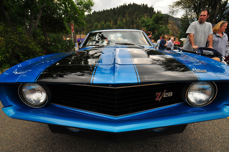 Photo by Walt Hester<br /> A classic Camero draws stares at the classic car show in Bond Park on Saturday.
