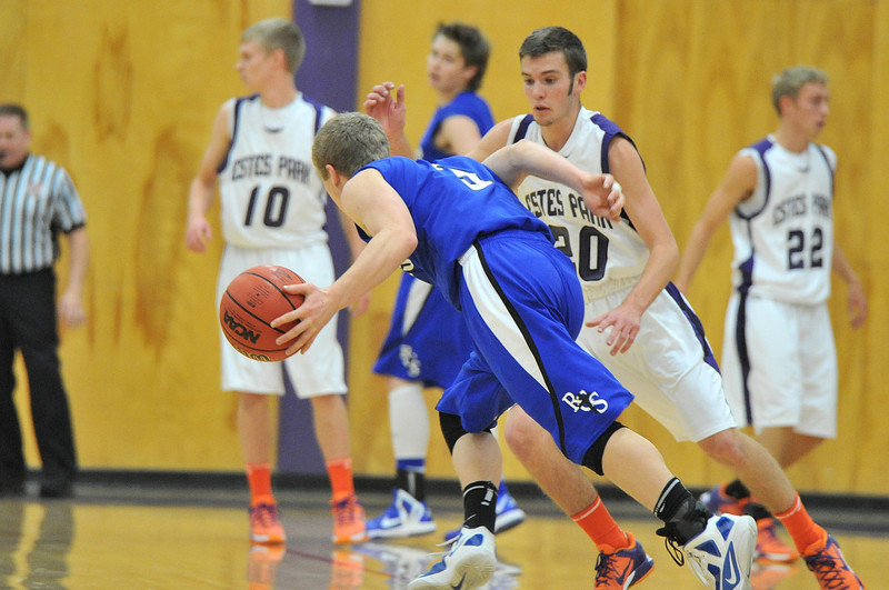 Josh Hays' foot speed helps defend Resurrection Christian's Wyatt Simon. Simon caused the 'Cats fits as he brought his Cougars back in the second half.