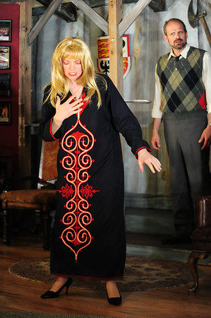 """Walt Hester   Trail Gazette<br /> Elizabeth Potter plays psychic Helga ten Dorp in the EPRTC production of """"Deathtrap."""" The comic thriller runs at the Hemple Auditorium for the next two weekends."""