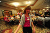 Walt Hester | Trail Gazette<br /> Marcie Kiser smiles ear-to-ear as she walks up to accept her Teacher of the Year award at the Estes Park Volunteer Luncheon on Tuesday. Every year, volunteers in town make huge impact, both financially and personally.