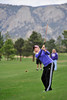 Walt Hester   Trail Gazette<br /> Jesse O'Dell drives to the green during Wednesday's Estes Park Invitational golf tournament at the public 18-hole course. O'Dell placed third among individuals and two of the top four teams were Estes Park teams.