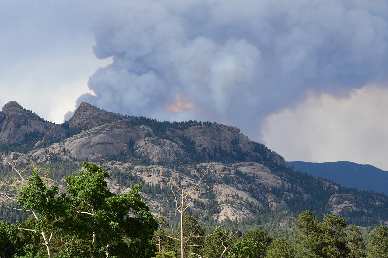 Smoke from the High Park Fire burning since Saturday morning northwest of Fort Collins