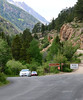 Cars are exiting the Endovalley Picnic area Wedndesday afternoon. Old Fall Traffic can head up Old Fall River Road begining on Friday, June 15 when the one-way road in Rocky Mountain National Park is open for the season.