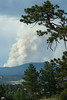 Smoke from the High Park Fire burning northwest of Fort Collins since Saturday morning can still be seen from Estes Park.