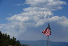 Walt Hester | Trail Gazette<br /> Smoke from the High Point Fire reach high into the sky above Estes Park on Tuesday. A shift in the wind bright smoke and ash into the Este Valley and put nerves on edge early Wednesday morning.
