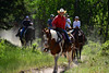 Walt Hester | Trail Gazette<br /> A trail guide takes park visitors down a dusty trail below Horseshoe Park on Tuesday. The continued dry conditions could effect tourism if it gets worse.