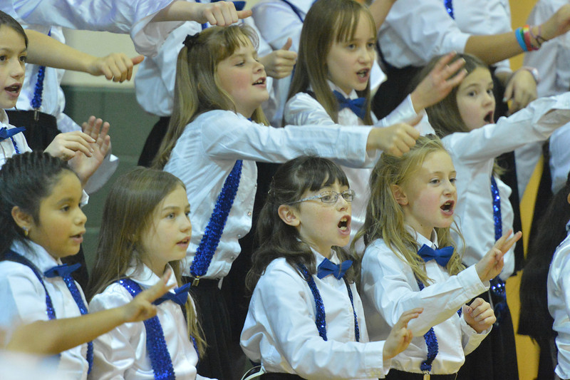 The Estes Park Elementary School's Mopuntain Echoes Choir performed for their friends and family on Tuesday night. The choir will perform for the noon Rotary Club in December.