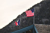 Flags whip and tear in the wind on Thursday. The winds in Estes Park, which are often fierce, batter and rip flags in the winter.