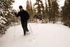 Walt Hester | Trail Gazette<br /> Snowshoers, from left, Mark Baker, Ryan Burkert and Peter Sulivan, all from Savannah, Ga., hike through deep, new snow along the Alberta Fall Trail. More snowshoing and trail-breaking opportunities as more snow is expected over the weekend.