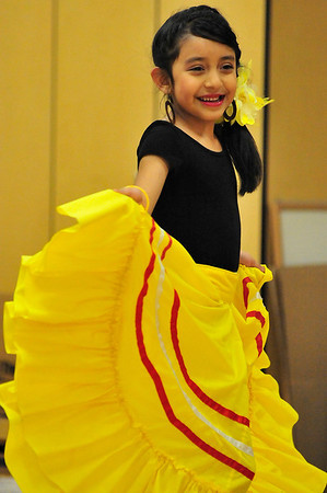 Walt Hester | Trail Gazette<br /> Rebeca Leon, 8, of Estes Park performs at the Estes Park Parent Teacher Organization's Winter Carnival on Sunday. The event was a chance for cheldren and parents to get out and have fun without getting chilled.
