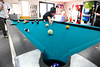 Walt Hester   Trail Gazette<br /> Ben Hodge, 15, makes a shot at the Estes Valley Youth Center on Monday. The center provides a safe place for children who would otherwise be alone, or at least unsupervised, after school.