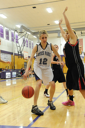 Walt Hester   Trail Gazette<br /> Amanda Dill works toward the lane against Strasburg in February. Dill will have to bring all of her speed and leadership skills if the Ladycats are going to challenge defending champs Holy Family.