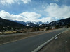 Clouds hang over the peaks of the Continental Divide west of Estes Park.