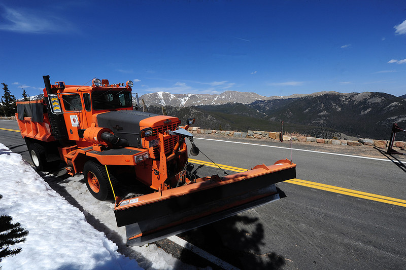 Walt Hester | Trail Gazette<br /> An old plow sits just beyond the gate above Rainbow Curve on Monday. The old plow seems unnecessary as dry weather, warm temperatures and wind seems to have removed most of the snow.