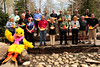 Walt Hester | Trail Gazette<br /> The biggest sponsors of the 2012 Estes Park Duck Race gather at Riverside Plaza, near the finish line of the annual race. Big sponsors include Cheley Camps, EPMC, Key Bank and Eagle Rock School to name just a few.