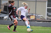 Walt Hester | Trail Gazette<br /> Senior Hanna Steadman controles a pass agains Berthoud on Wednesday. Steadman scored two of the Ladycats' four goals in their 4-1 win over Rocky Mountain Lutheran Thursday.
