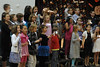 Walt Hester   Trail Gazette<br /> The Estes Park Elementary School's fourth-graders perform on Thursday night. The program depicted a school focused on space.