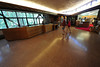 Walt Hester | Trail Gazette<br /> A couple walks through the renovated and open Beaver Meadows Visitor Center on Wednesday. The national park planning a grnad openning party at the vistor cenetr on Saturday, May 19.