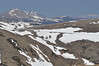 Walt Hester   Trail Gazette<br /> The Alpine Visitor Center, as well as the Wyoming Medicine Bow Range, far right, are visible from above Rock Cut on Monday. Last year, the visitor center was completely buried in snow.