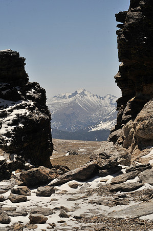 Walt Hester | Trail Gazette<br /> Not much snow obscured the view from the Tundra Communities Trail above Rock Cut on Monday. Thelack of spring snow left the trail and the view wide open.