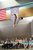 Walt Hester | Trail Gazette<br /> Senior Will Casey hits his pike position in a dive earlier in May. Casey qualified last weekend to dive in the state swimming and diving meet this Friday and Saturday.