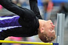"Walt Hester | Trail Gazette<br /> Andrew Cirone archs more than six feet in the air and rain on Saturday. Cirone took silver in the 3A Boys high jump after clearing, then missing, 6'3"" in a jump off."
