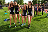 Walt Hester | Trail Gazette<br /> Erin Barker, second from left, smiles again after team mates Sara Speedlin, Laurel Todd and Faith Weibel support and encourage her and each other. Barker had been upset by her finish, until her team mates reassured her.