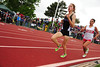 Walt Hester | Trail Gazette<br /> Kelsi Lasota takes over third place in the 1600 meters on Saturday. Lasota held on for the bronze medal, adding to her haul for the meet.