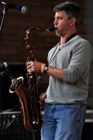 Walt Hester | Trail Gazette<br /> Nelson Rangell blows his sax on Sunday's session of the Estes Park Jazz Fest. The festival, in its 21st year, attracts top talent, as well as fans from all over the Front Range.