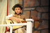 "Walt Hester | Trail Gazette<br /> Gio Dumont practices on the lute for intermission of the Soggy Noodle performance of ""To Do or Not To Do; Shakespeare Gone Astray"". The Children's Theatre will perform their production Friday and Saturday at the Estes Park High School Theater."