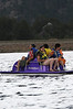 Walt Hester | Trail Gazette<br /> A family paddles their way across Lake Estes on Wednesday. While conditions are dry in Estes Park and much of Colorado, there is still plenty of fun to be had.