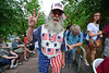 Walt Hester | Trail-Gazette<br /> Local patriots abound at the annual Patriotic Concert at Performance Park on Wednesday night. Colorful clothes and flags decorated the fans of the Village Band's concert.