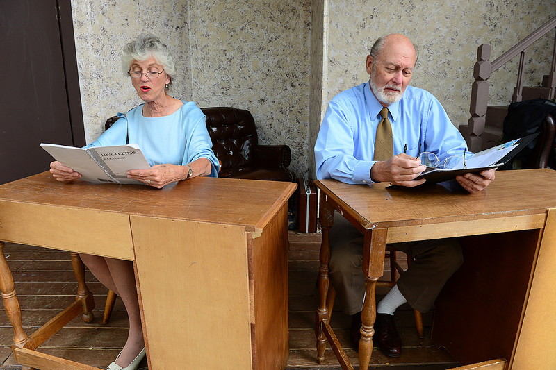 Walt Hester | Trail-Gazette<br /> Kathy Littlejohn is Melissa Gardner and Michael Dzik is Andy Ladd in the Fine Arts Guild production of Loveletters. The performance is scheduled for 7:30 at the Baldpate Inn Key-Thedral outdoor theater on July 6 and 14.