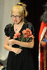Walt Hester | Trail Gazette<br /> Aspen Turner weeps and sings as Ophelia in Hamlet during the Soggy Noodles production on Saturday. Turner was also one of three co-narrators.