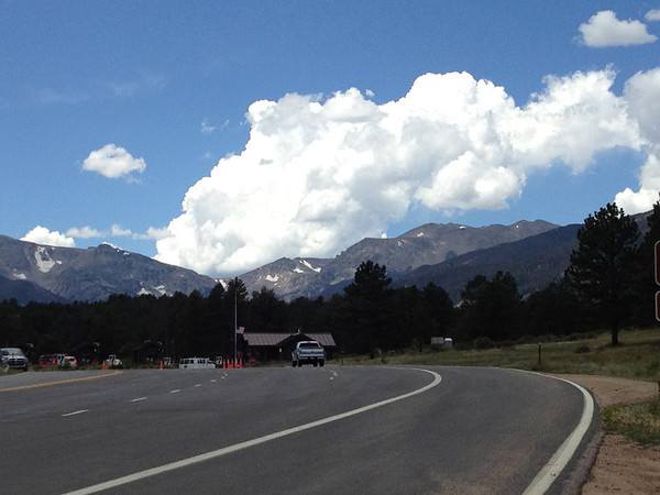 Thunderheads build over the Continental Divide west of Estes Park Thursday afternoon.