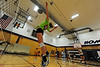 Walt Hester | Trail Gazette<br /> A Ladycat volleyballer jumps for a hit during drills during the Wednesday afternoon session of the two-day University of Wyoming camp. Twenty Ladycats participated in the camp to hone their volleyball skills.
