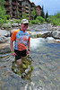 Walt Hester | Trail Gazette<br /> Rick Life takes a post-ride dip in the Ten-Mile Creek on Saturday. The chilly water was a natural anti-inflamitory, helping the recovory process.