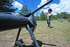 Walt Hester | Trail Gazette<br /> Zeke Young, 10, attempts to rope a metal calf at the MacGregor Ranch Heritage Camp on Wednesday. The camp gives children the opportunity to experience life of the Estes Valley around the turn of the 20th cntury.