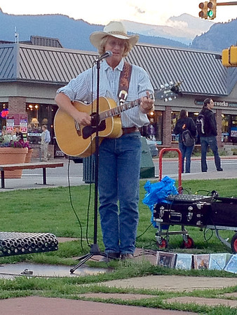 Local favorite Cowboy Brad Fitch plays for fans at Bond Park on Monday. Cowboy Brad won't play Tuesday night due to the Rooftop Rodeo, but returns next week.